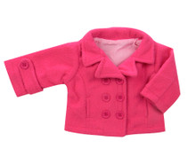 "Fuschia Pea Coat Fits 18"" American Girl Dolls"