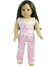 "Heart Doll Pajamas Fits 18"" American Girl Dolls"