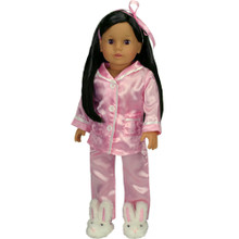 "Sophia's Pink Satin PJ's Set Fits 18"" Dolls"