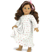 "Print Nightgown Fits 18"" American Girl Dolls"