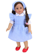 "Dorothy Costume for 18"" Dolls"