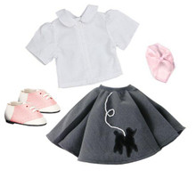 "Poodle Skirt Outfit Fits 18"" American Girl Dolls"