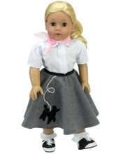 "Sophia's Poodle Skirt Outfit Fits 18"" Dolls"