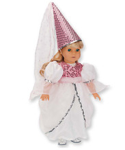 "Princess Gown w/ Hat Fits 18"" American Girl Dolls"