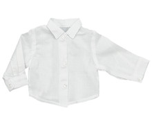 "White Long Sleeve Oxford Shirt fits 18"" American Girl Dolls"