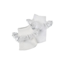 "Lace Ankle Socks Fits 18"" Dolls"