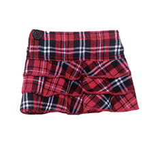 "Red Plaid Ruffle Skirt Separate Fits 18"" American Girl Dolls"