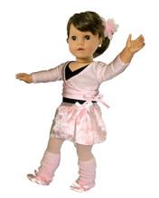 Ballet Leotard & Sweater Complete Set Fits 18 Inch American Girl Dolls Clothes
