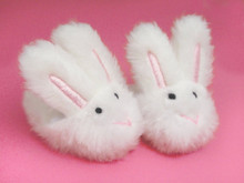 White Bunny Slippers Fits 18 Inch American Girl Doll Shoes