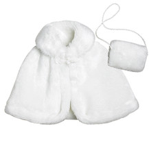 "Fur Caplet & Muff Fits 18"" Dolls"
