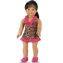 "Leopard Print Cover Dress Fits 18"" American Girl Dolls - LOW STOCK"