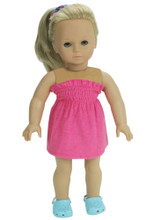 "Fuchsia Terry Sundress Fits 18"" American Girl Dolls"
