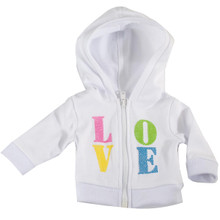 Love Front Zip Hoodie fits American Girl Doll Clothes