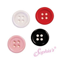 12mm Buttons- 12 pieces per bag for 18 Inch American Doll Clothes