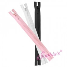 Invisible Zipper w/ large Zipper Pull - 3 piece per bag Tiny 18 Inch American Doll Clothes Zippers