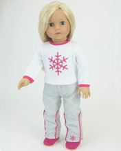 Snowflake T & Snowboard Pants Fits 18 Inch American Girl Dolls Clothes Ski Clothes