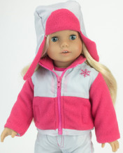 "Sophia's Nylon/Fleece Snowflake Jacket & Hat Set Fits 18"" Dolls"
