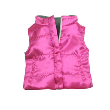 Fuchsia Vest with Gray Lining