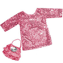 "Sophia's Pink Sequin Tunic Dress and Purse For 18"" Dolls"