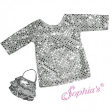 Silver Sequin Tunic Style Dress & Purse Fits 18 Inch American Girl Dolls Clothes