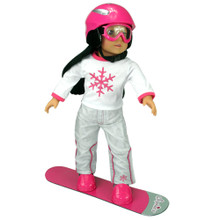 "Snow Board, Goggles, & Helmet Set for 18"" Dolls"