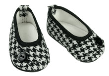 Houndstooth Print Shoes Fits 18 Inch American Girl Doll Shoes CLEARANCE