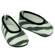 "Zebra Print Ballerina Flats Fit 18"" Doll  FINAL CLEARANCE"