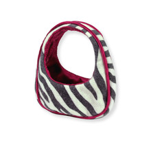 "Zebra Print Bag For 18"" Dolls  FINAL CLEARANCE"