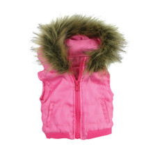 Hot Pink Vest with Fur Trim