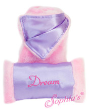 Pink Satin Sleeping Bag Bedding Set for 18 Inch Dolls