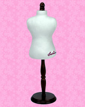 "Doll Dress Form with Wooden Base For 18"" Doll Clothes"
