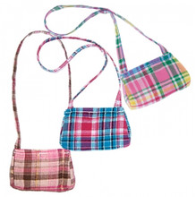 "Plaid Shoulder Bag Purse For 18""  Dolls"