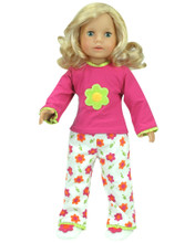 "2-Piece Flower PJs Fits 18"" American Girl Dolls"