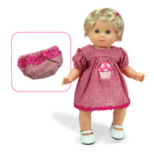 Red Gingham Cupcake Dress Set For 15 Inch Baby Dolls