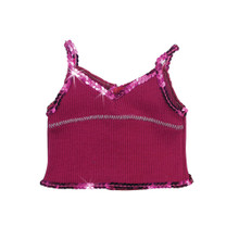 "Sophia's Berry Sequin Trim Tank fits 18"" Dolls"