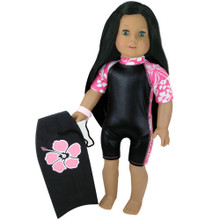 "Sophia's Hawaiian Print and Black Wet Suit for 18"" Dolls"