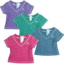 "Sophia's Heather T-Shirt fits 18"" Dolls"