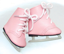 Pink Ice Skates Fit 18 inch Dolls
