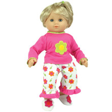 "Flower PJ's Fits 15"" and 18"" Dolls"