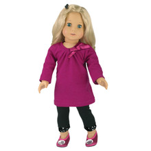 "2 Piece Dress & Leggings Set Fits 18"" American Girl Dolls"