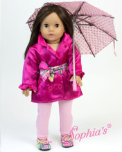 Satin Trench Coat & Hat for American Girl Fits 18 Inch American Girl Dolls Clothes