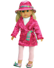 Sophia's Satin Trench Coat & Hat For 18 Inch Dolls