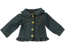 "Denim Ruffle Jean Jacket Fits 18"" American Girl Dolls"