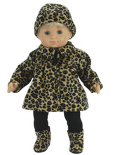 Animal Print Jacket & Hat For 15 Inch Baby Dolls