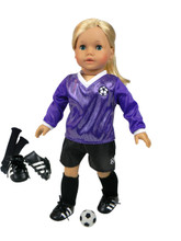 "Sophia's Soccer Outfit, Ball, Knee Socks, and Soccer Cleats for 18"" Dolls"