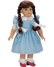 Dorothy's Costume 4 PC Set fits 18 Inch American Girl Dolls