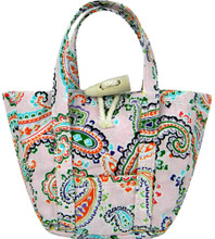 Pink Paisley Print Tote Bag For 18 Inch Dolls