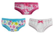 "3-Pack of Underwear (White, Camouflage & Flower Print) Fits 18"" American Girl Dolls"