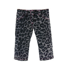 "Gray Animal Print Jeans with Hot Pink Stitches fits 18"" Dolls"