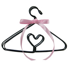 Wire Heart Doll Clothes Hangers
